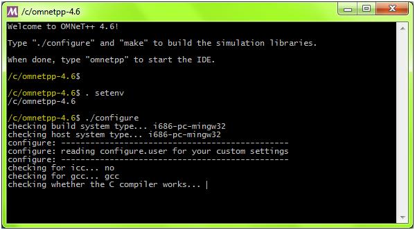 OMNET++ Installation Step 12