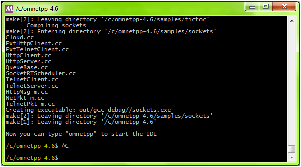 OMNET++ Installation Step 12