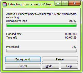 OMNET Installation Step 7