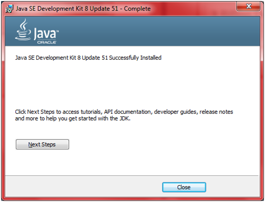 JDK Installation Step 12